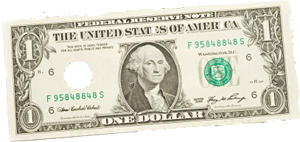 single dollar bill
